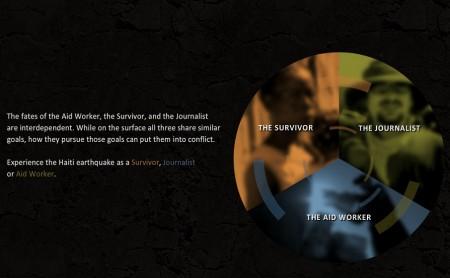 Das Newsgame ermöglicht das Nachspielen des schweren Erdbebens ins Haiti 2010 aus unterschiedlichen Perspektiven